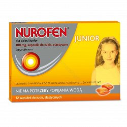 Nurofen junior 100mg 12 kaps. do żucia