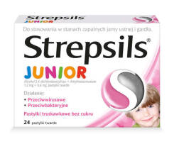 Strepsils Junior 24 pastylki do ssania