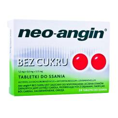 NeoAngin bez cukru 24 tabl. do ssania